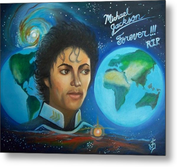Michael Jackson Portrait. Metal Print by Jose Velasquez