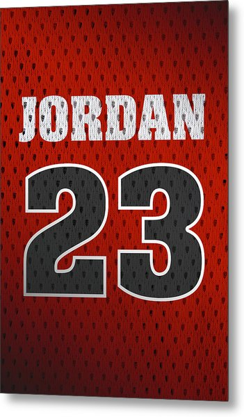 Michael Jordan Chicago Bulls Retro Vintage Jersey Closeup Graphic Design Metal Print
