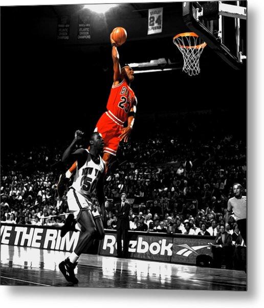 Michael Jordan Suspended In Air Metal Print