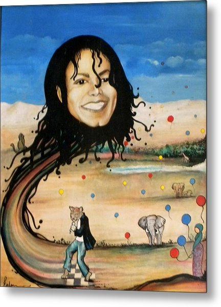 Michael's World Metal Print