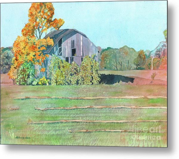 Michigan Autumn Barn Metal Print