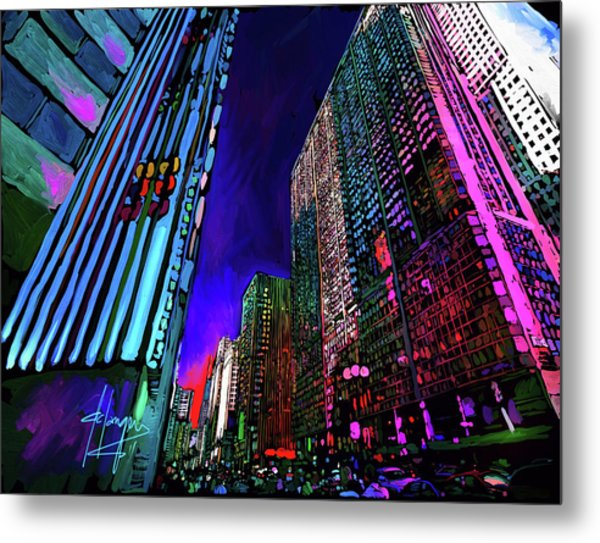 Michigan Avenue, Chicago Metal Print