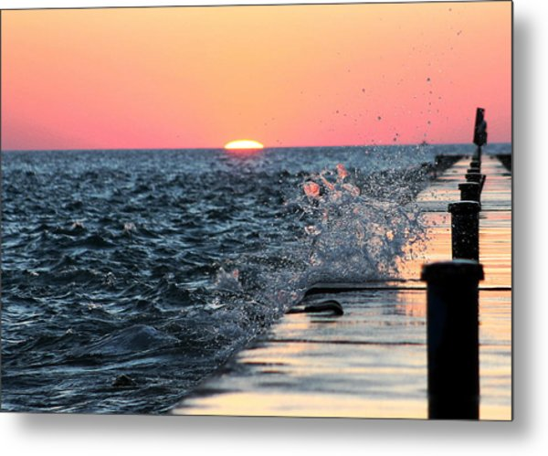 Michigan Summer Sunset Metal Print