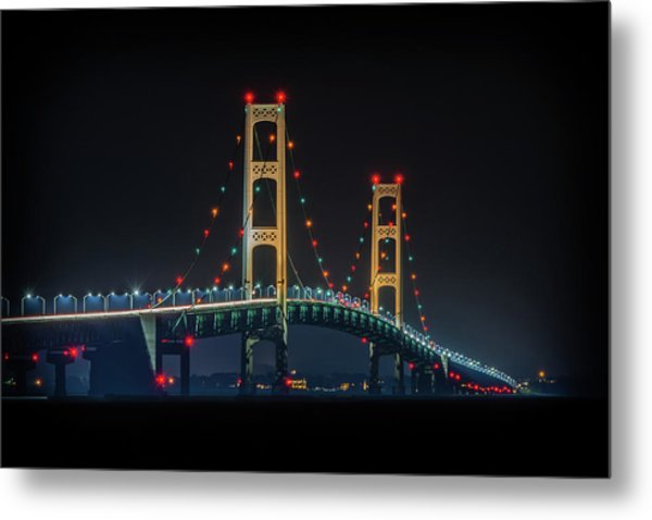 Michigan's Nightlight Metal Print