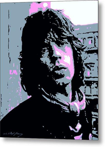 Mick Jagger In London Metal Print