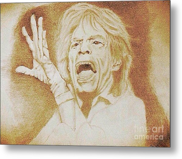 Mick Jagger Of The Rolling Stones Metal Print