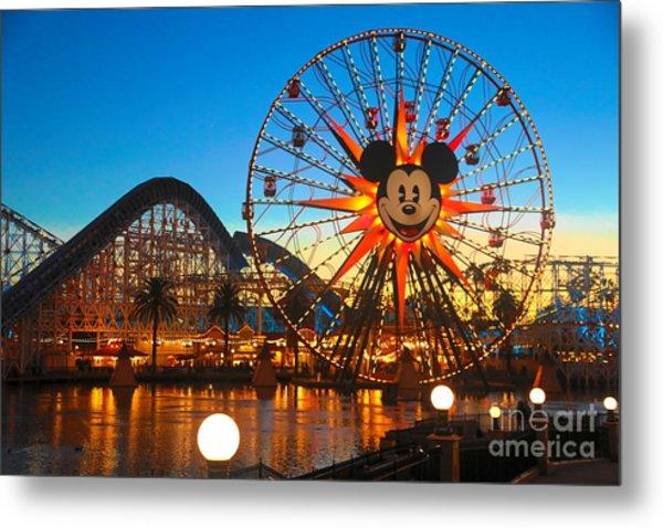 Mickey Mouse California Adventure Ferris Wheel Ride  Metal Print