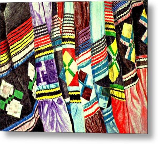 Micosukee Skirts Metal Print by Sam Vega