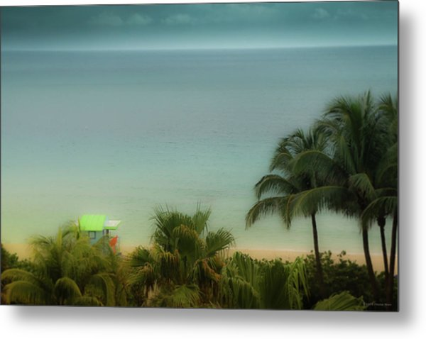 Mid-beach Miami-1 Metal Print