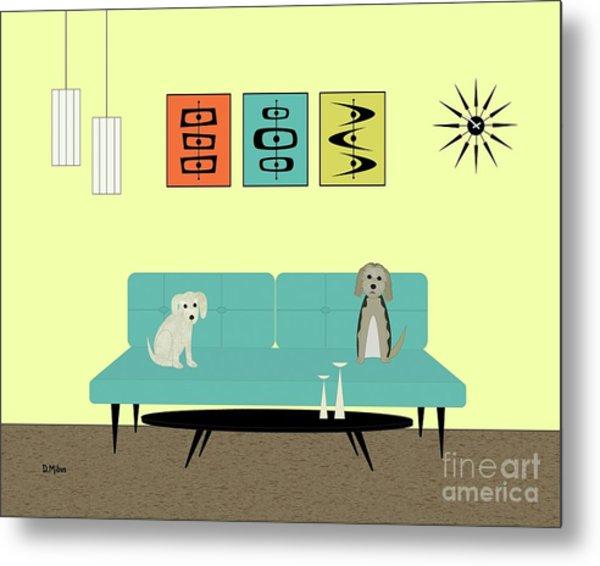 Mid Century Modern Dogs 2 Metal Print