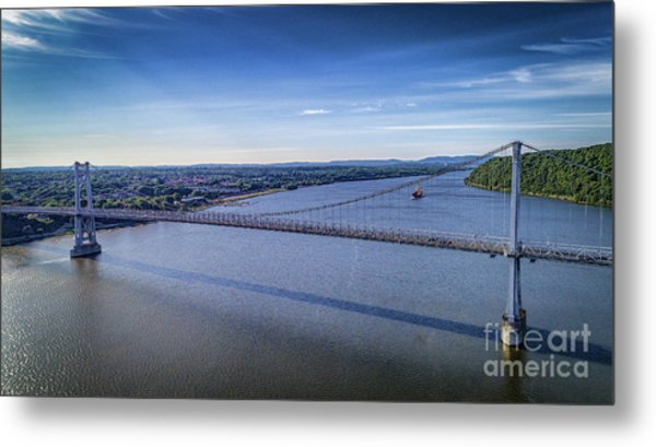 Mid-hudson Bridge In Spring Metal Print