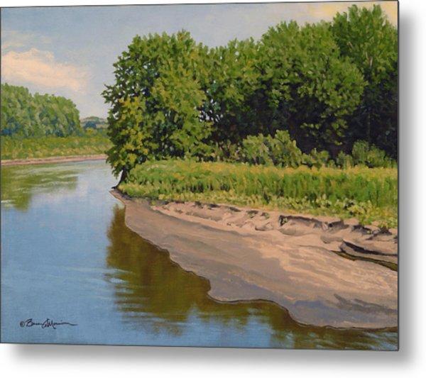 Mid Summer Prairie Stream Metal Print