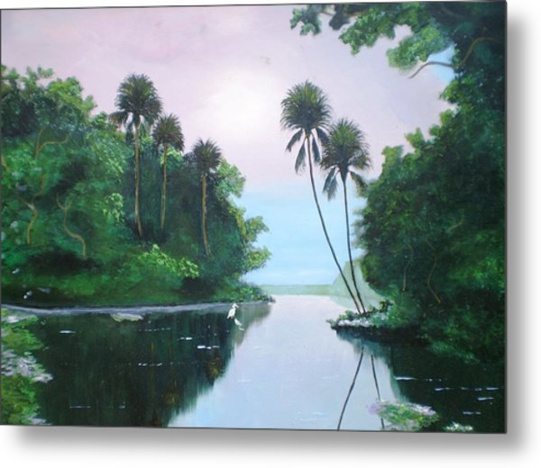 Miday Or The River Metal Print by Francis Roberts ll