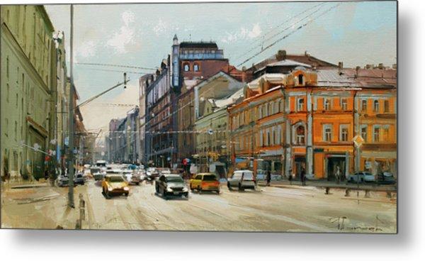 Midday. Tver Stream. Tverskaya Zastava Square. Metal Print