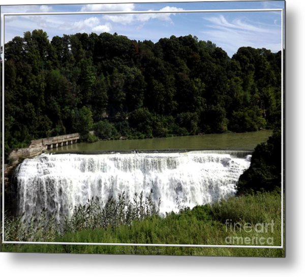 Metal Print featuring the photograph Middle Falls In Rochester New York by Rose Santuci-Sofranko