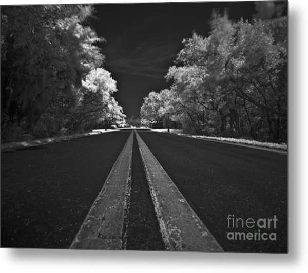Middle Line Metal Print by Rolf Bertram