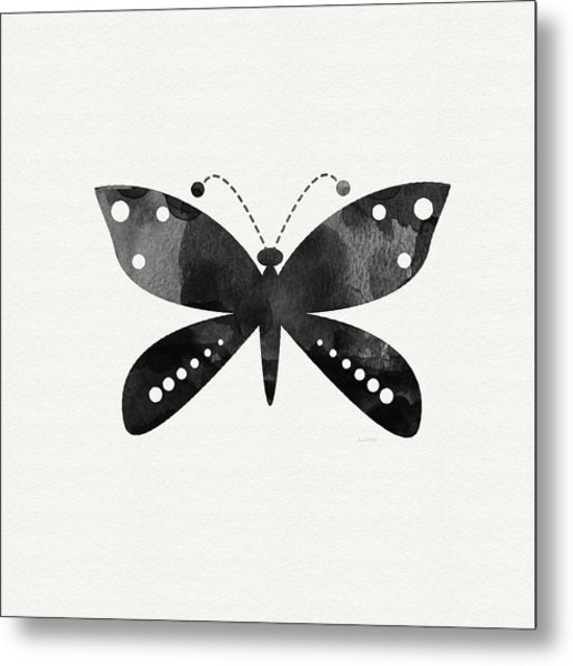 Midnight Butterfly 4- Art By Linda Woods Metal Print