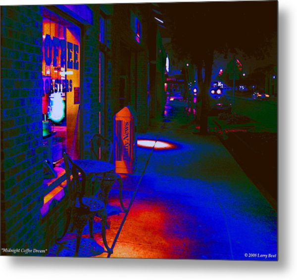Midnight Coffee Dream Metal Print