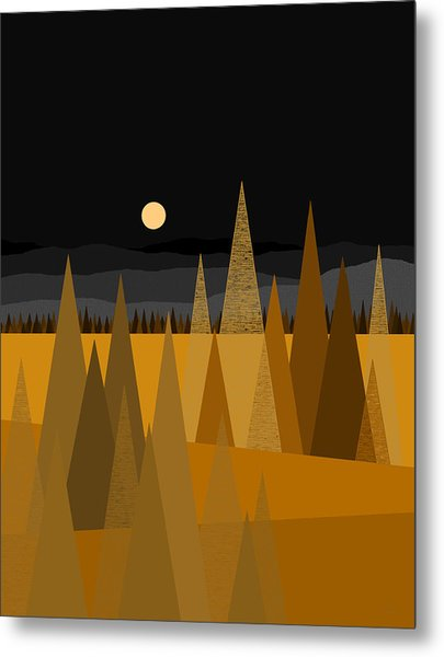 Midnight Gold Metal Print