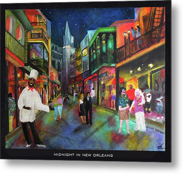 Midnight In New Orleans Metal Print