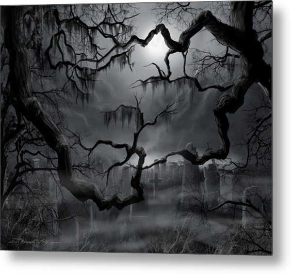 Midnight In The Graveyard II Metal Print