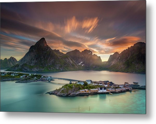 Midnight Sun Galore Metal Print