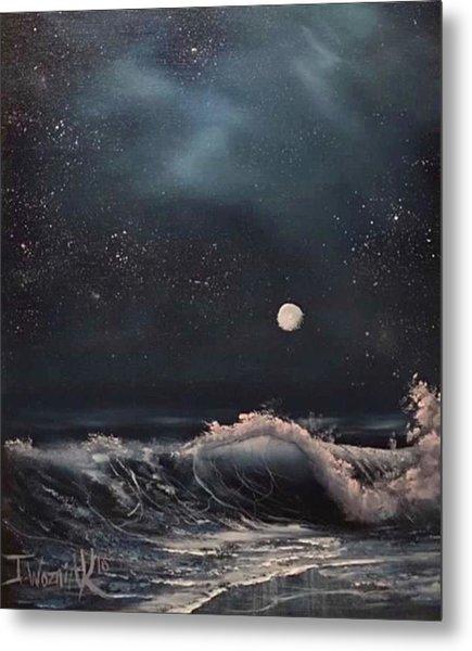 Midnight Surf  Metal Print