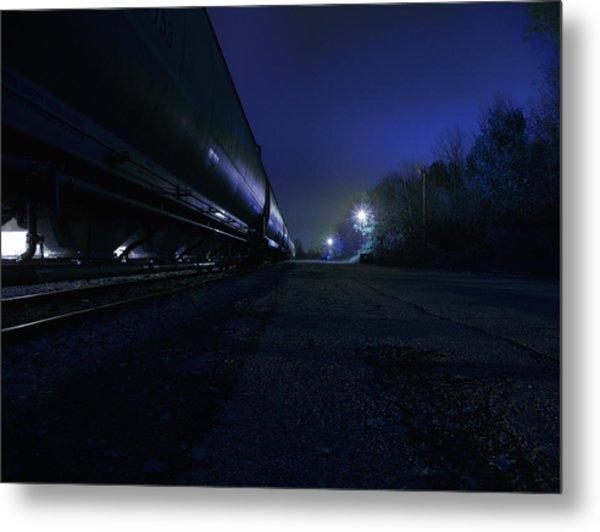 Midnight Train 1 Metal Print by Scott Hovind