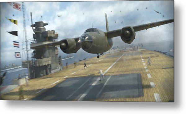 Midway Marauder - Painterly Metal Print