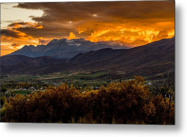 Midway Utah Sunset Metal Print
