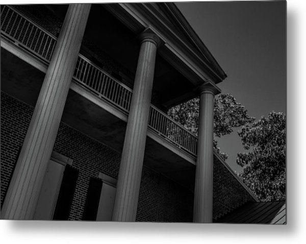 Metal Print featuring the photograph Mighty Columns - The Hermitage by James L Bartlett