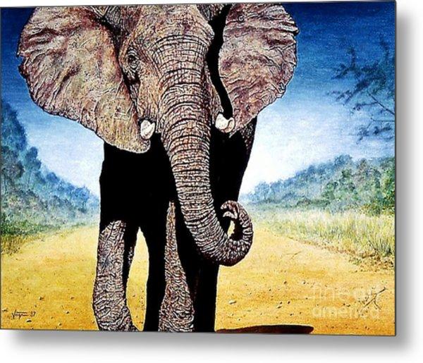 Mighty Elephant Metal Print