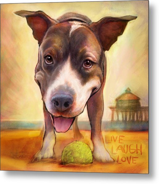 Live. Laugh. Love. Metal Print