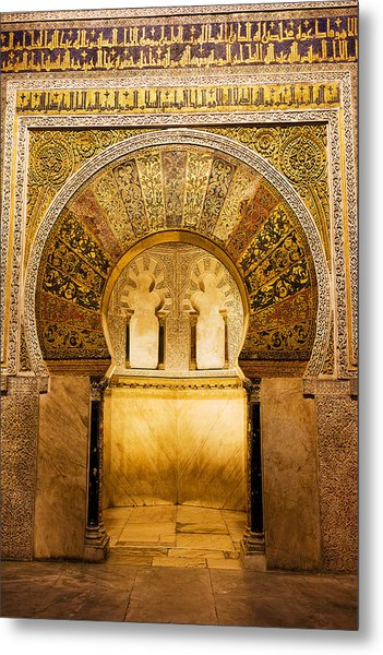 Mihrab In The Great Mosque Of Cordoba Metal Print