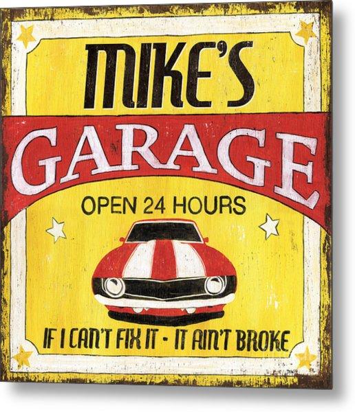 Mike's Garage Metal Print