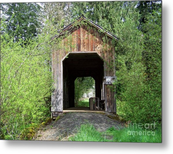 Milbrandt Bridge Portal Metal Print
