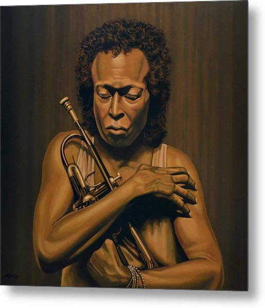 Miles Davis Painting Metal Print