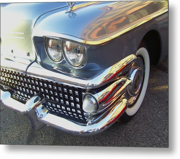 Miles Of Chrome Metal Print by Randall Easterling