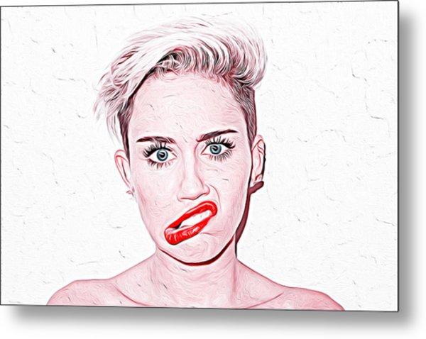 Miley Cyrus Metal Print