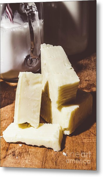 Milk And Cheese Metal Print