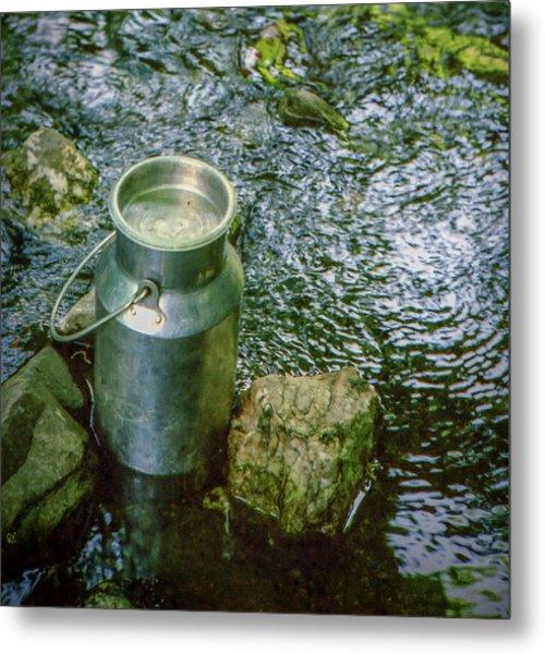 Milk Can - Wales Metal Print