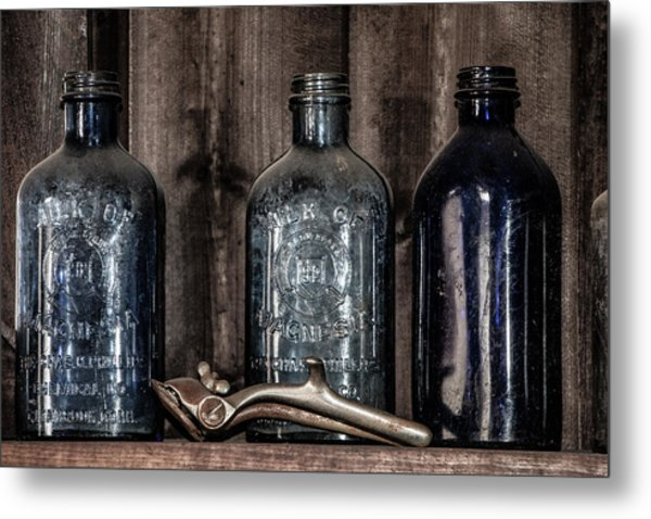 Milk Of Magnesia Bottles Metal Print