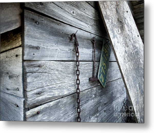 Milk Shed Metal Print