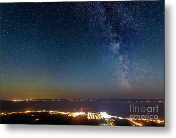 Milky Way Above Carleton In Quebec Metal Print by Colin Woods