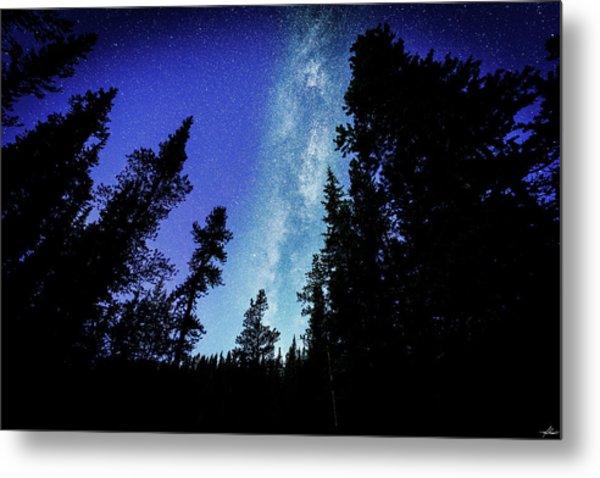 Milky Way Among The Trees Metal Print