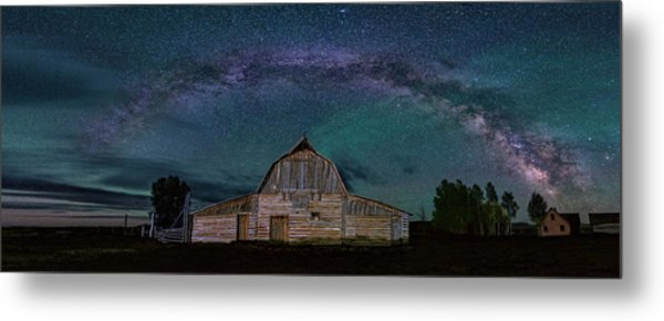 Milky Way Arch Over Moulton Barn Metal Print