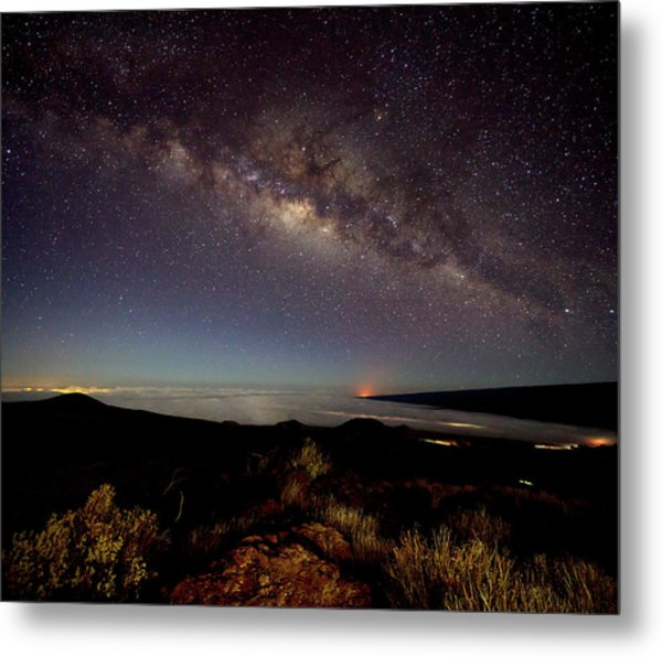 Milky Way From Mauna Kea Metal Print