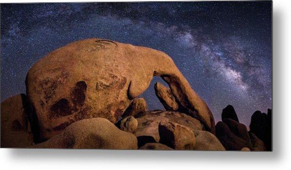 Milky Way Over Arch Rock Metal Print