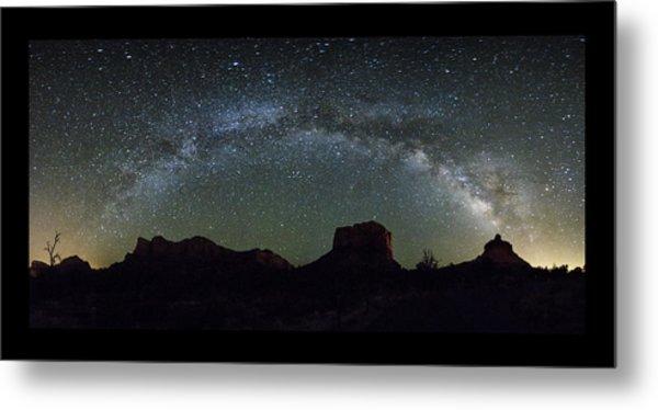 Milky Way Over Bell Metal Print