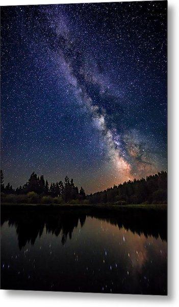 Milky Way Over The Deschutes River Metal Print
